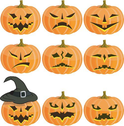 Recortables para halloween printable pumpkin halloween - Recortables de halloween ...