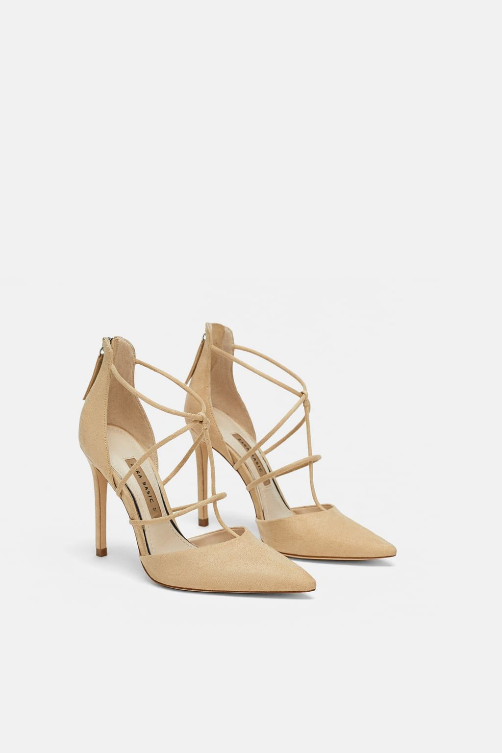 4099ca0d0cfc Image 1 of STRAPPY HEELED SHOES from Zara Brown Beige