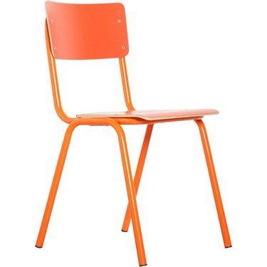 Zuiver Stoel Back to School - Oranje