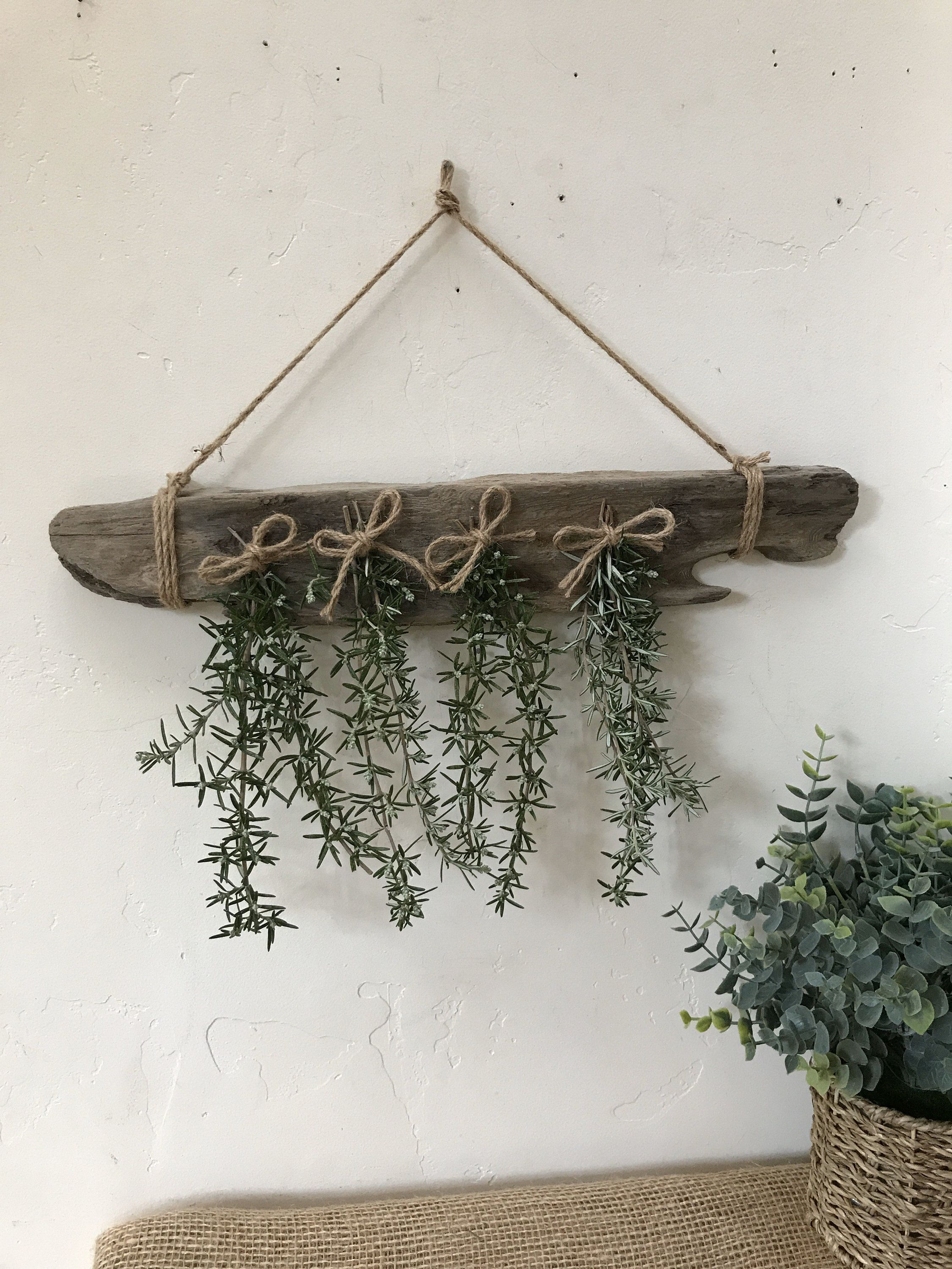 Driftwood Re Claimed Wood Dried Herbs Or Flowers Hanging Rack Dry Herbs Rustic Cabin Farmhouse Look In 2020 Dried Flowers Coastal Decor Comfortable Patio Furniture