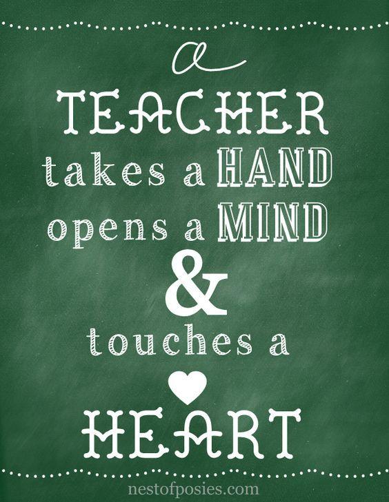 For the love of teachers Green Chalkboard Printable