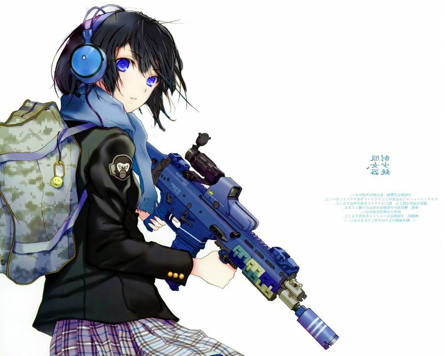 anime girls with guns - Google Search | Anime Fighters | Pinterest ...