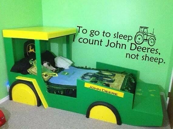 Kinderbett junge traktor  I count John Deeres   Country   Pinterest   Traktoren, Bett und ...