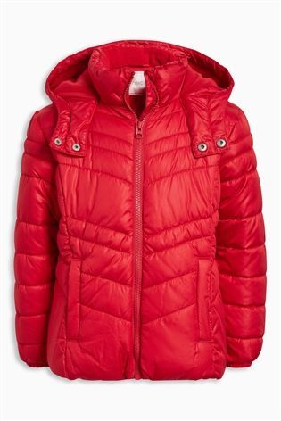 96013dbbd Buy Red Short Padded Jacket (3-16yrs) from the Next UK online shop ...