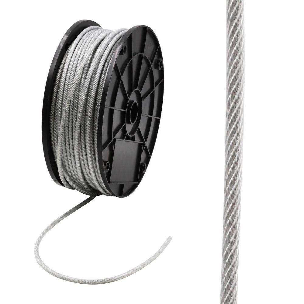 Everbilt 1 8 In X 250 Ft Galvanized Vinyl Coated Steel Wire Rope 806390 The Home Depot In 2020 Galvanized Galvanized Steel Vinyl