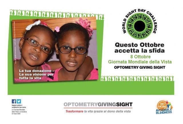 Giornata mondiale della vista! Ti aspettiamo in negozio per una donazione!!