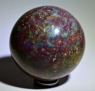 Rarest ! ruby with blue kyanite 66 mm gem stone crystal