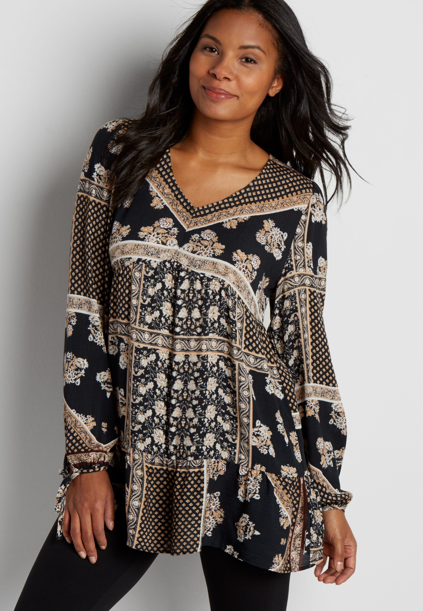 65ee30ece4e lightweight patterned tunic top (original price, $36.00) available at  #Maurices