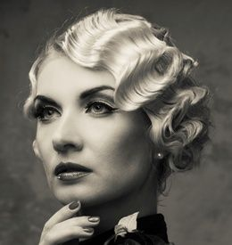 The Finger Wave Hairstyle Is One Of Most Por Curling Methods From 1920s Waves Short Hairfinger