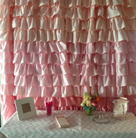 Ombre Curtain, Pink Curtains, Ruffled Curtain, Baby Girl, Curtains, Chevron  Frame