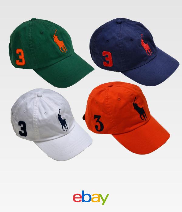 ad931042 Polo Ralph Lauren Hat Ball Cap Big Pony Baseball Mens One Size Classic  Strapback