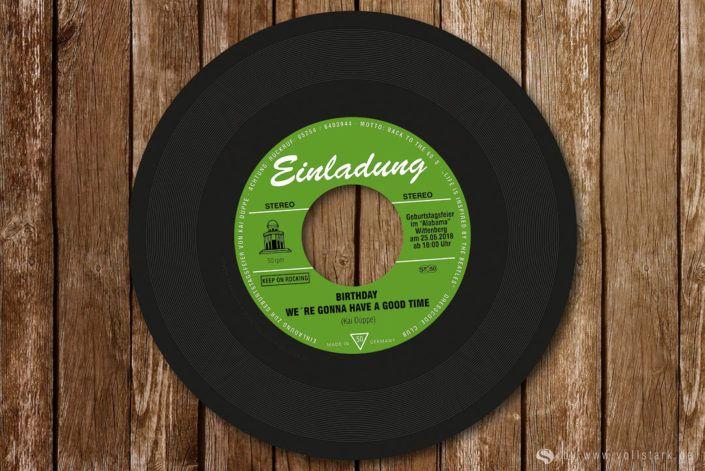 Schallplatte Als Einladungskarte Orion Original Vinyl Single