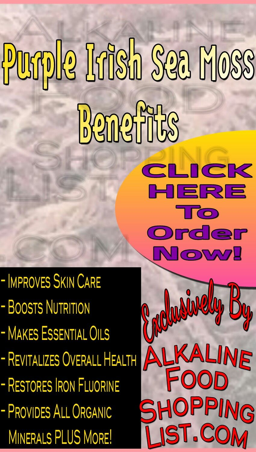 Contact Support Sea Moss Boost Nutrition Health Facts