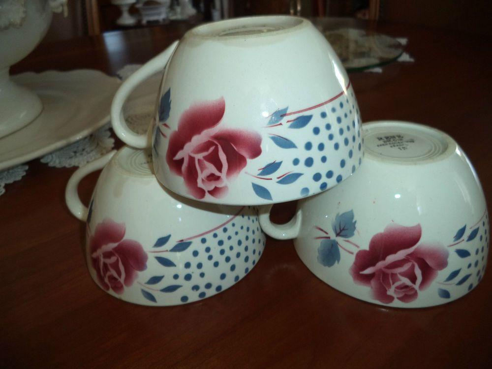 3 anciennes tasses digoin sarreguemines s rie rene vaisselle digoin pinterest tasse. Black Bedroom Furniture Sets. Home Design Ideas