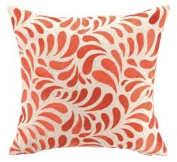 Montecito Orange and White Pillow