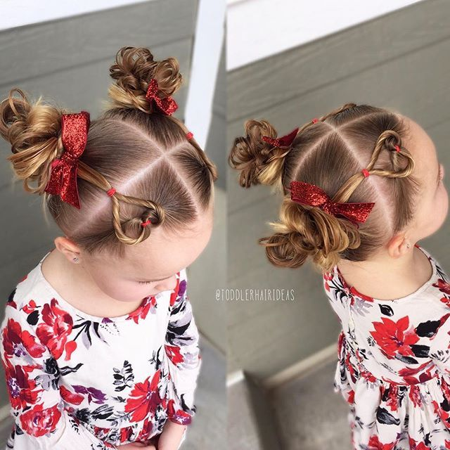 2 Flip Through Hearts I Have A Tutorial A Couple Weeks Back Into Messy Piggy Buns Adorable Sparkly Bo Little Girl Hairstyles Kids Hairstyles Baby Hairstyles