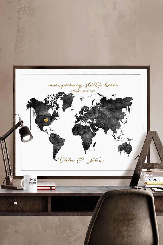 Wedding map wedding gift wedding guestbook personalised wedding wedding map wedding gift wedding guestbook by iprintposter on etsy gumiabroncs Image collections