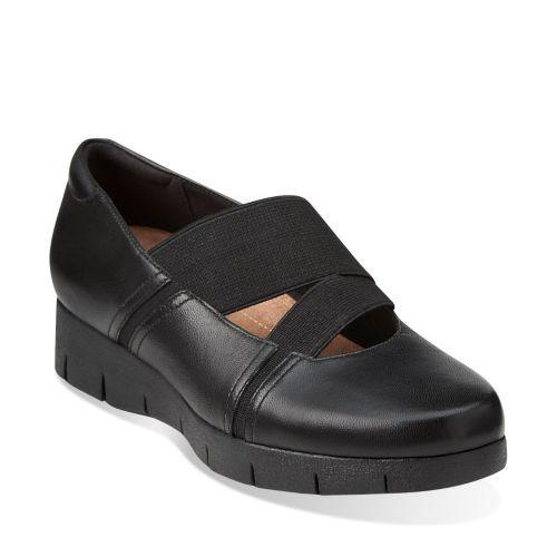 Womens Shoes Clarks Daelyn Villa Black Leather