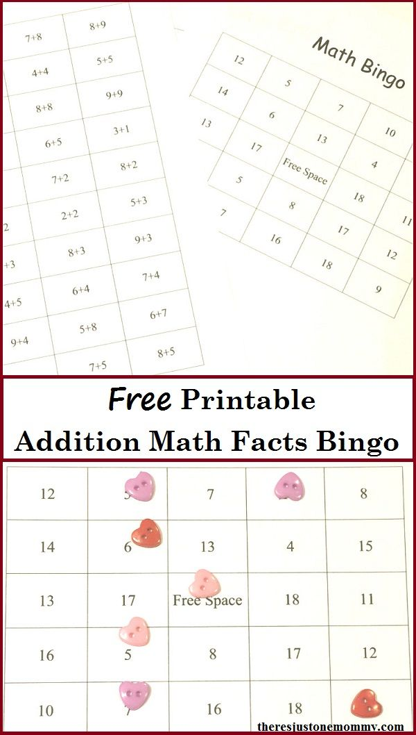 Need a fun way to practice math facts? Bingo! | Free printable bingo ...