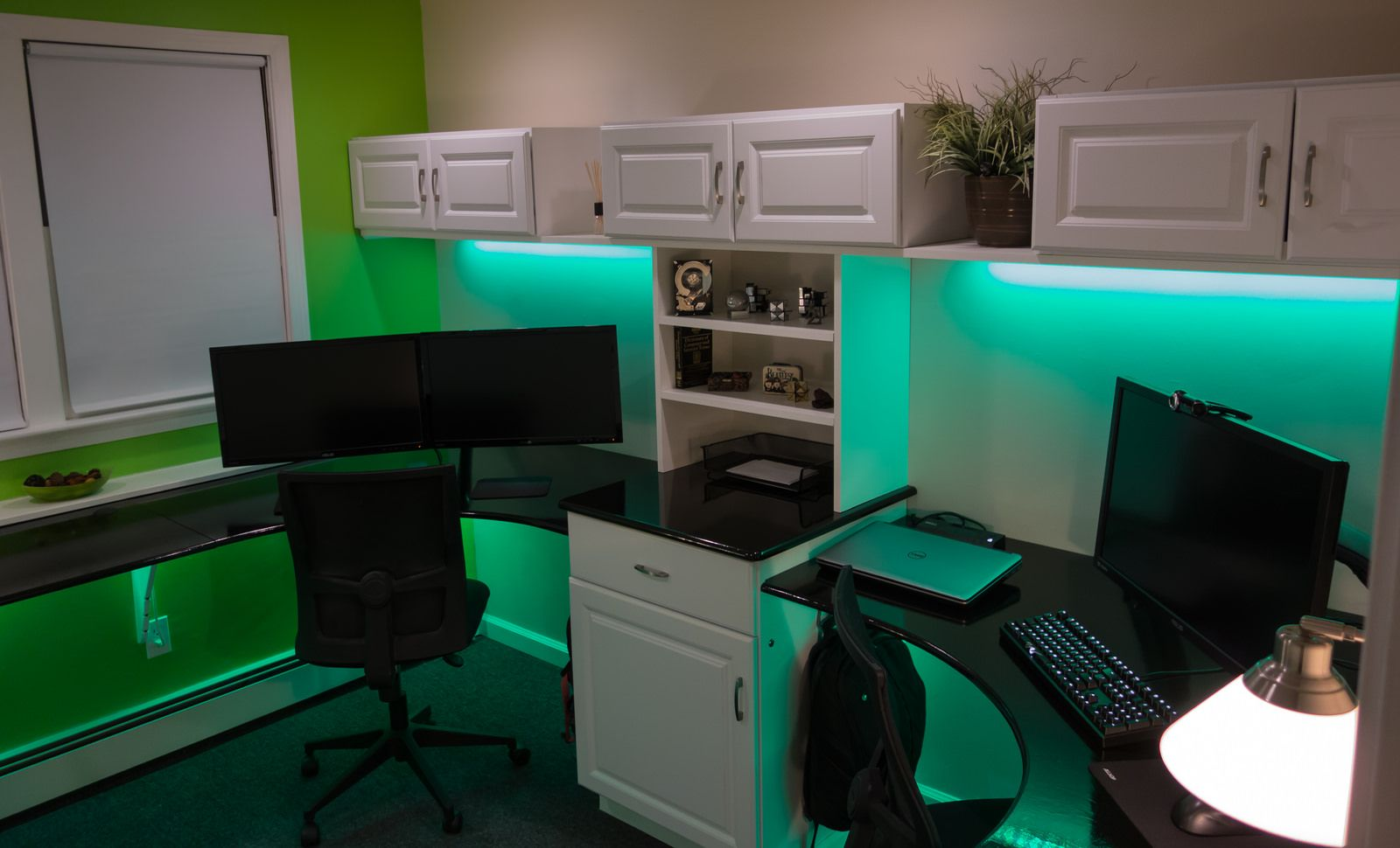 office setups. Wide Shot Of Dual Office Setup | By Ichirorabbit I Like The Lighting In This One Setups S