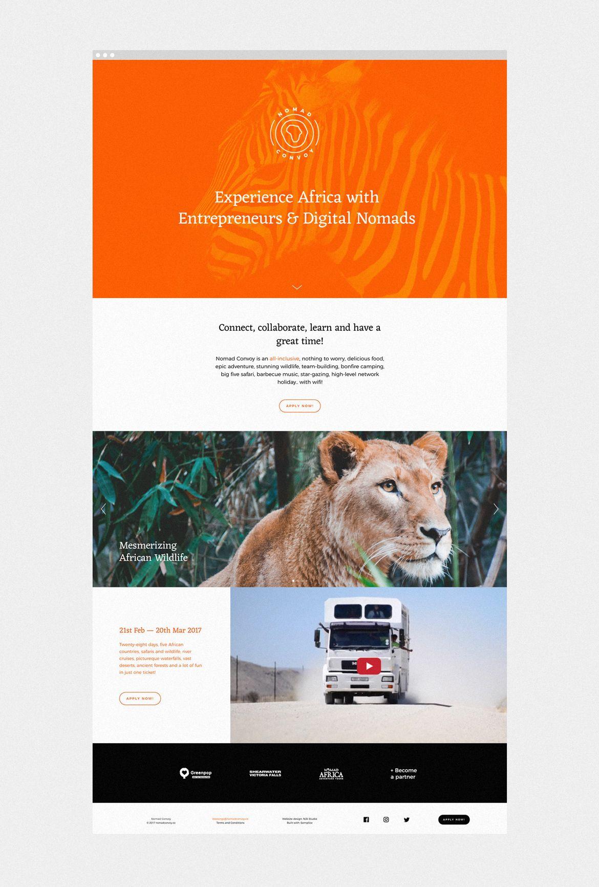 Nomad Convoy Identity And Web Design On Behance Web Design Unique Branding Identity