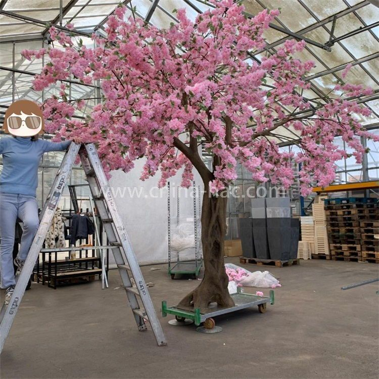 Artificial Cherry Blossom Flower Tree With Wisteria Flower China Hac In 2021 Cherry Blossom Tree Artificial Cherry Blossom Tree Blossom Tree Wedding