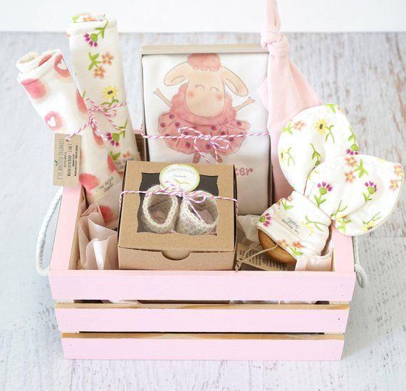Baby Girl Gift Basket, Organic Baby Clothes, Ballerina Baby Gift, Coming Home Baby, Ballerina...