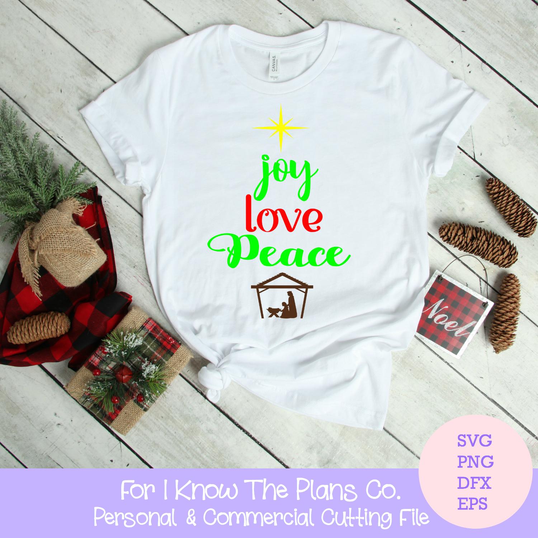 d4aa74d0 Christmas, Joy Love Peace, SVG, Christmas cutting file, Christmas t-shirt,  Christian Christmas, Christmas tea towel,Christmas Card, holiday