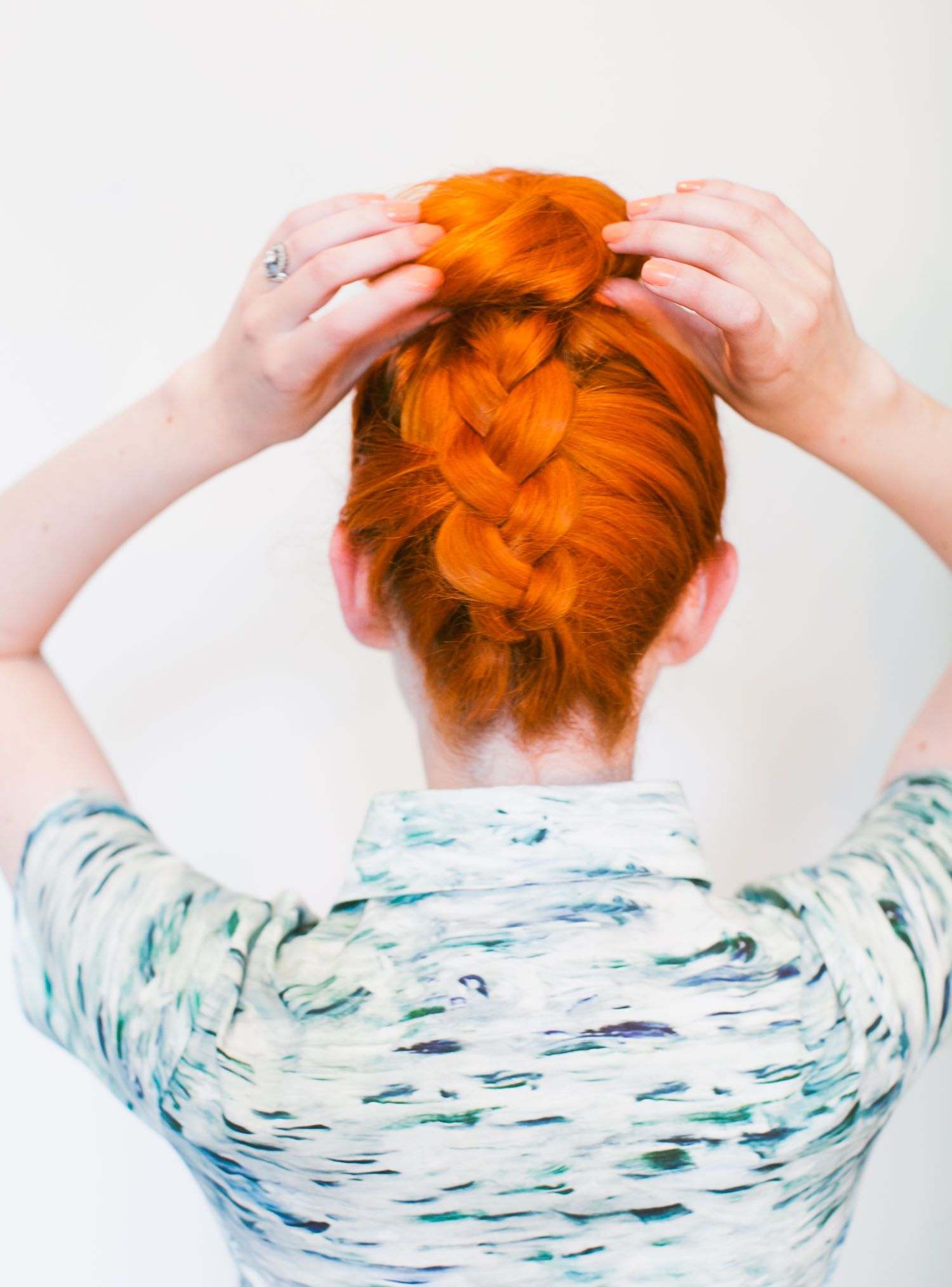 The Upside Down Braided Top Knot - A Beautiful Mess