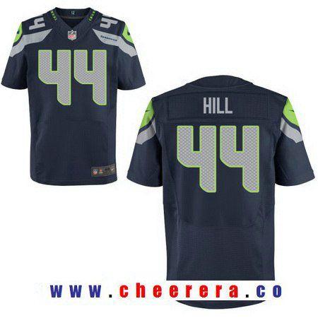 Men's Seattle Seahawks #27 Eddie Lacy Navy Blue Team Color Stitched NFL Nike Elite Jersey