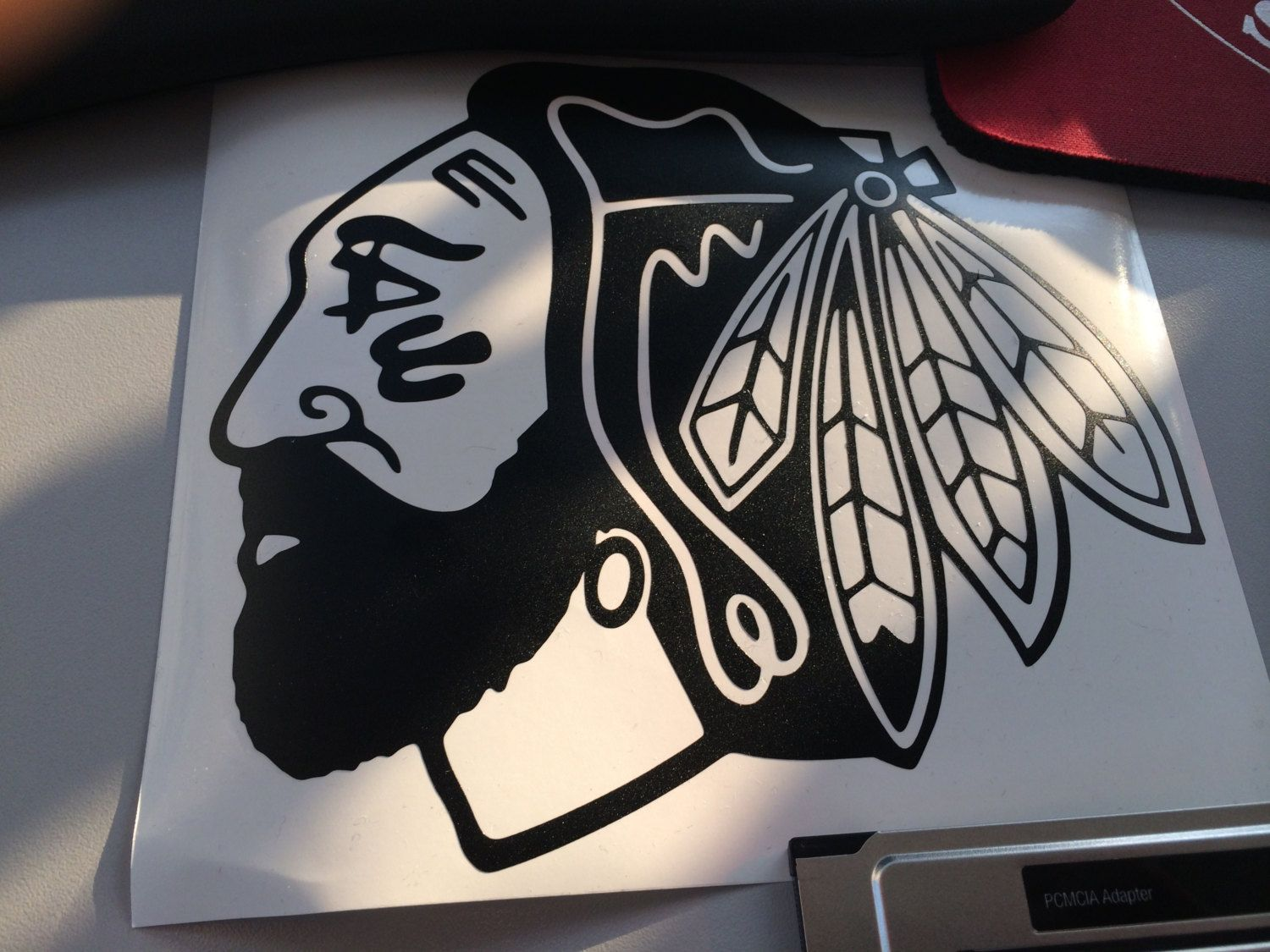 Chicago Blackhawks Playoff Beard Vinyl Decal Sticker - Window stickers for cars chicago