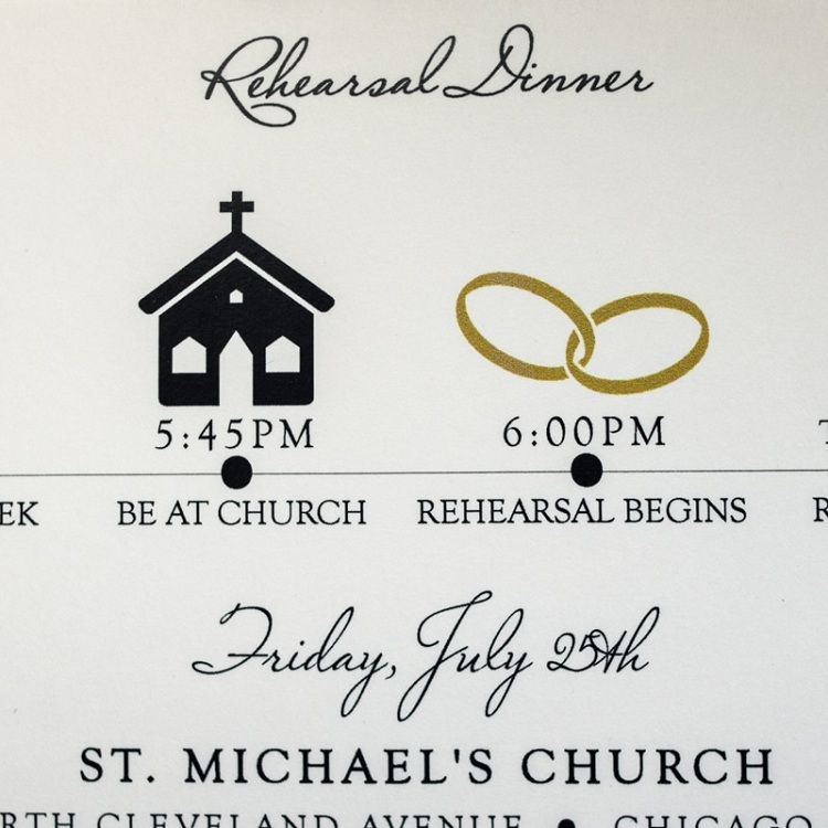 Rehearsal Dinner Invitations Church In 2019 Rehearsal