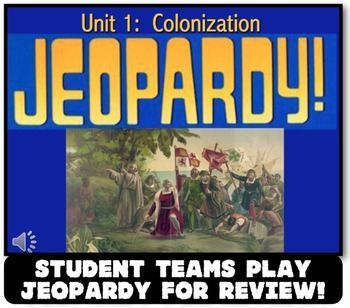 13 Colonies Jeopardy Review! Students Teams Play Jeopardy to Review 13 Colonies!