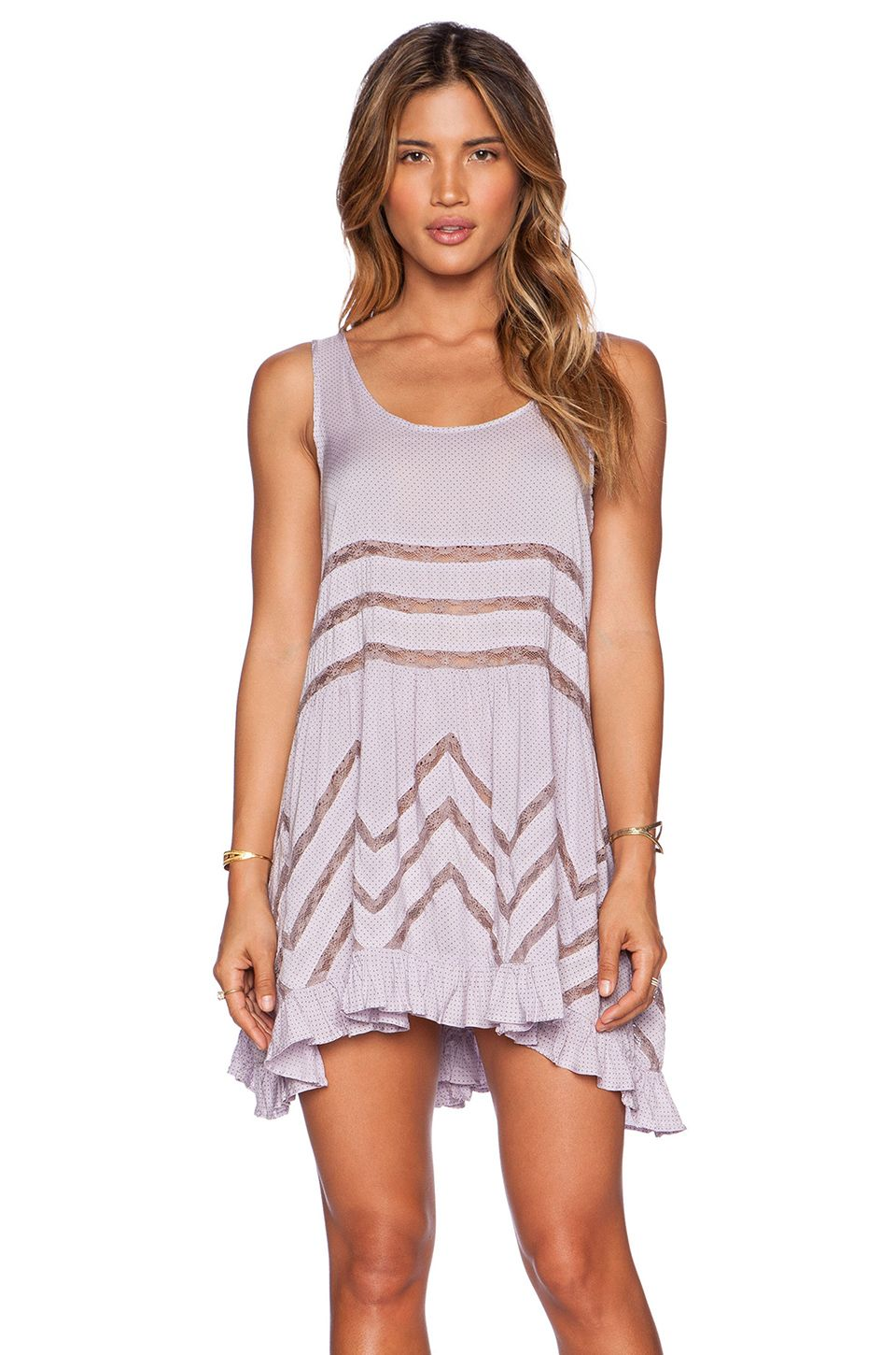 38249d263036 Free People Tiny Dot Voile & Lace Trapeze Slip Dress L… | Finding ...