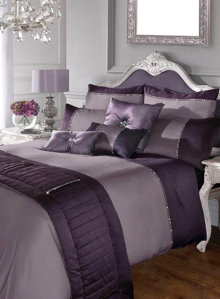 Kylie Minogue Yarona Mauve King Size Duvet Cover 2 Pillowcases New Purple Bedroom Decor Purple Bedrooms Bedroom Decor
