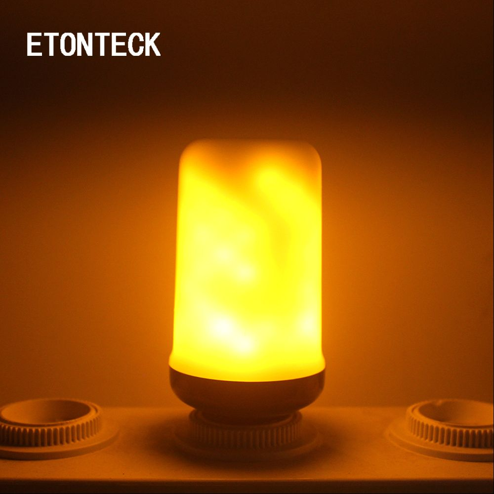 Etonteck hot sell flame effect e e led corn bulb modesgravity