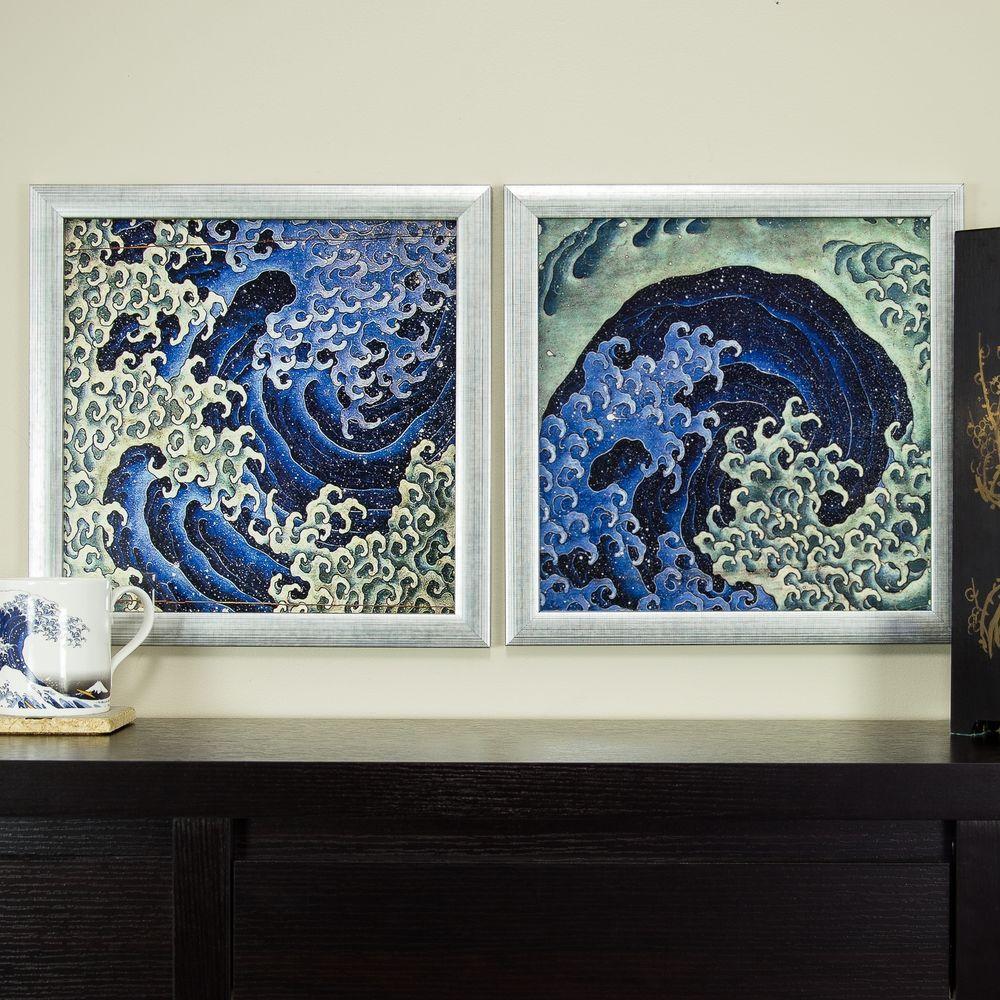 MasculineFeminine Wave, 12x12 Framed Asian Wall Art Set