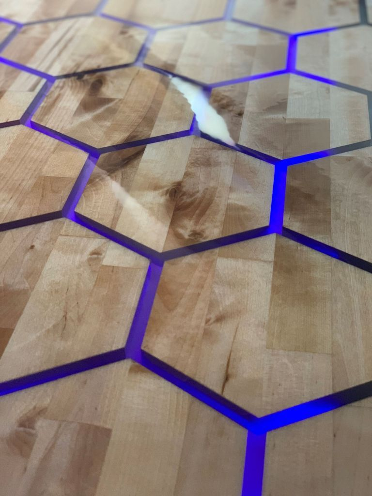Resin Casting a Floating Hexagon Table