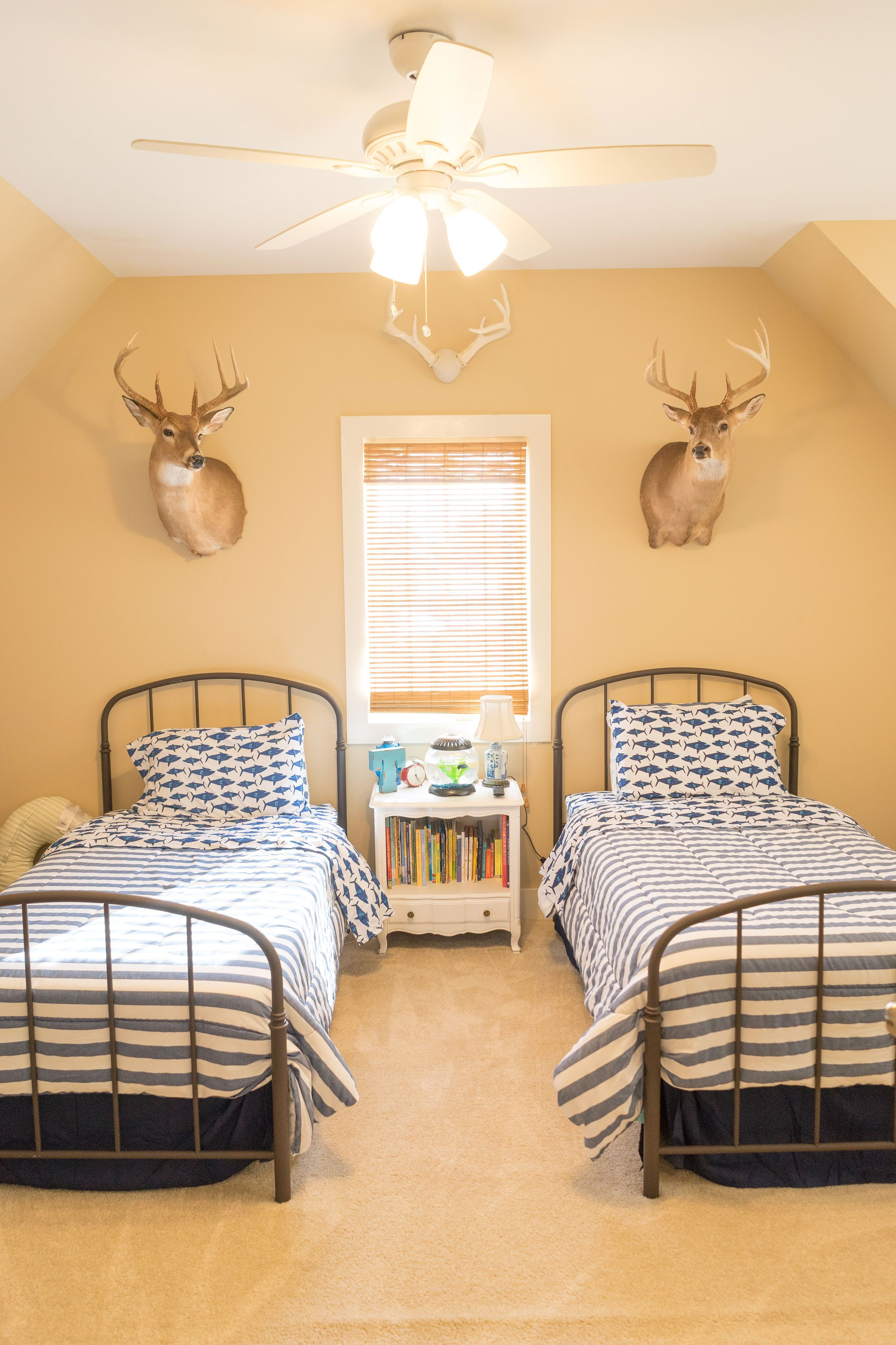 Boy room inspiration iron twin beds. Iron twin bed