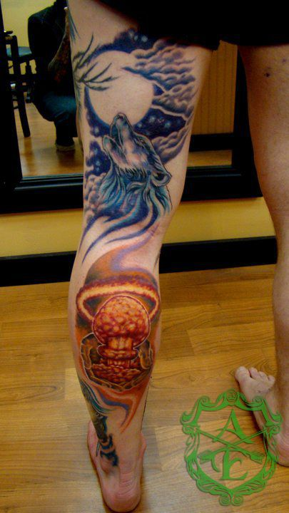 Atom Bomb Tattoo done by Sean Ambrose at Arrows and Embers ...