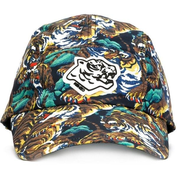 Kenzo  New Era  flying tiger cap ( 165) ❤ liked on Polyvore featuring  accessories 41b59496acb