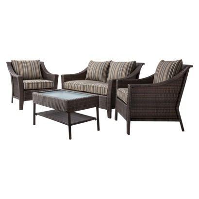 Outdoor Furniture: Threshold Rolston 4-Piece Wicker ...