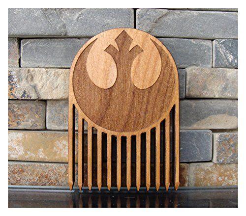 Rebel Alliance Wood Beard Comb // Light Side
