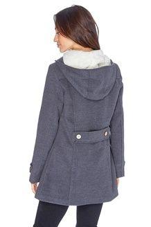 Duffle-coat à brandebourgs<BR> Anthracite