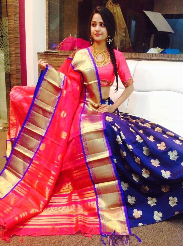 Kanchi Pattu Dupattas Teamed Up So Well With Beneres Skirt