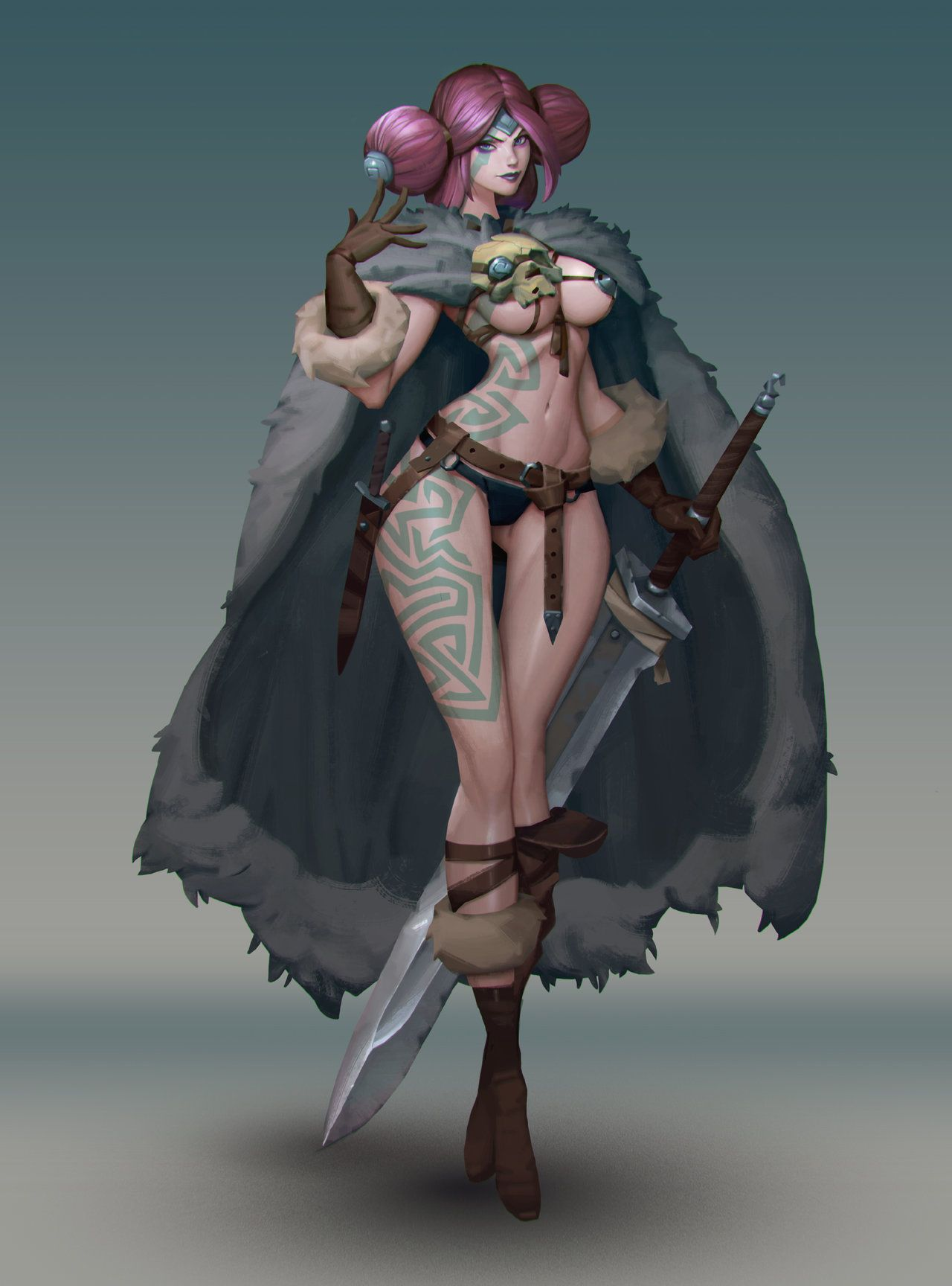 Astrid By Niconoff Exaggerated Female Fighter Barbarian