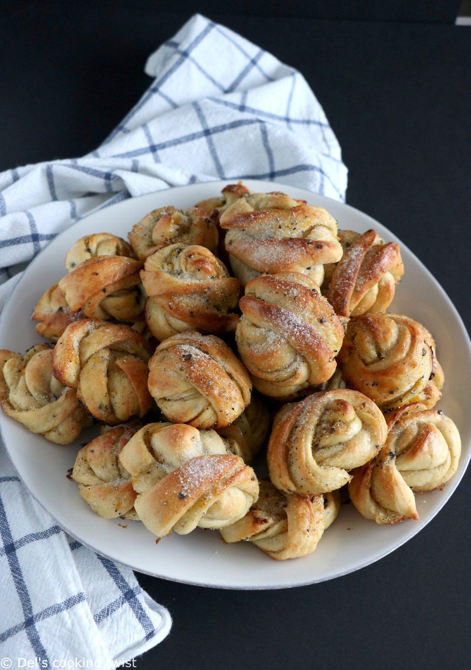 Brioches suédoises orange et cardamome   Del's cooking twist