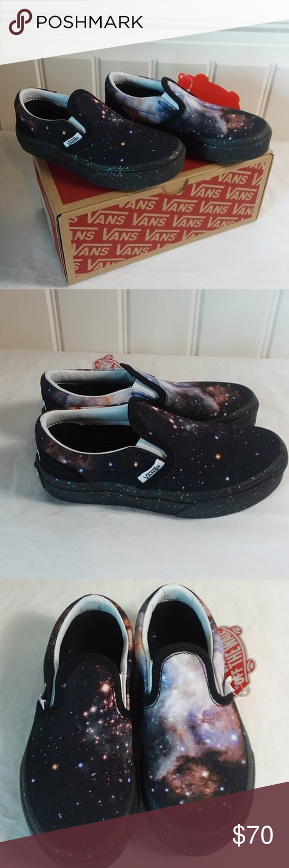 2c2a4be44e Vans TODDLER VANS X SPACE VOYAGER GALAXY Size 11 Vans TODDLER VANS X SPACE  VOYAGER CLASSIC SLIP-ON Toddler Galaxy Shoes Size 11 Brand New