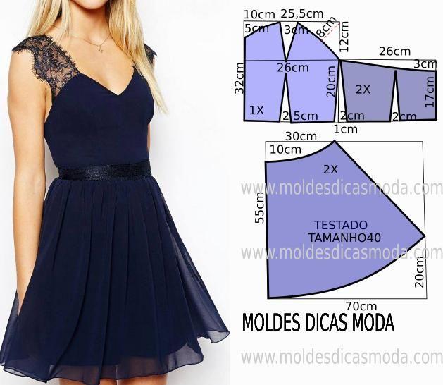 Patrones sencillos de vestidos de verano 2 | costura | Pinterest ...