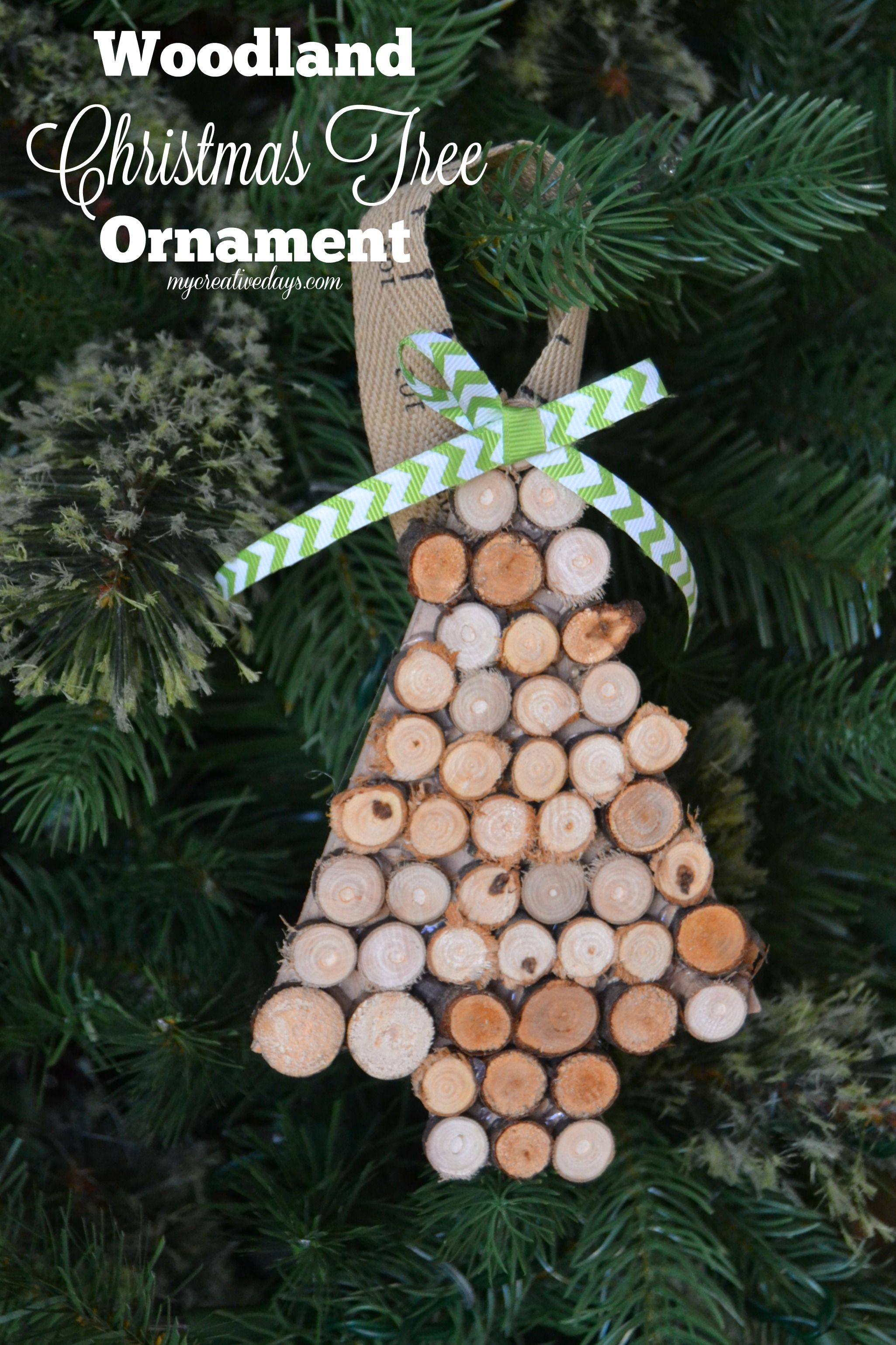 MyCreativeDays.com Woodland Christmas Tree Ornament